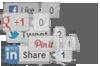 Add Facebook, Twitter, Linkedin, Google+ & Pinterest Buttons toWordpress