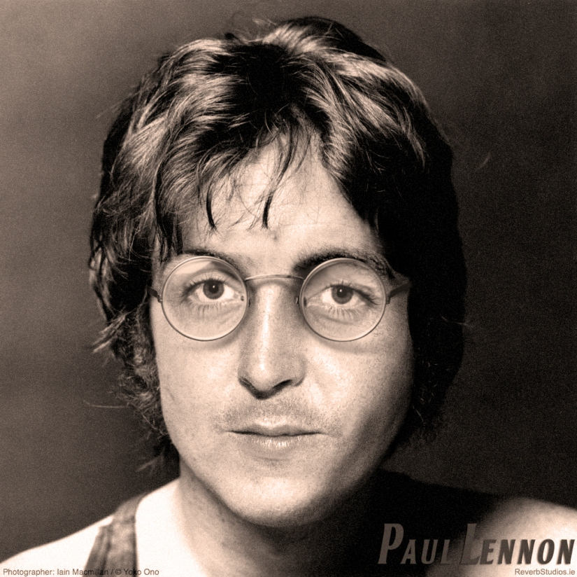 """Paul Lennon"" – Lennon McCartney Face Mashup in Photoshop"