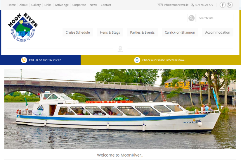 Moon River and River Run WebsiteRedesign