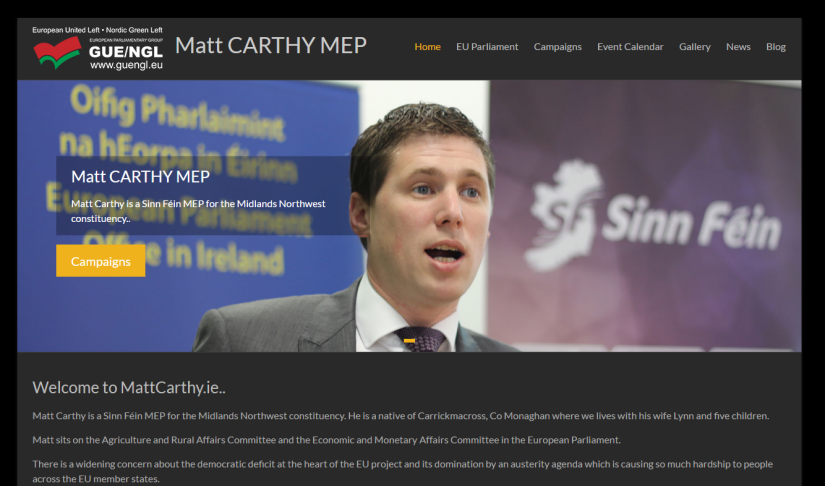 Website Rebuild for Matt Carthy MEP