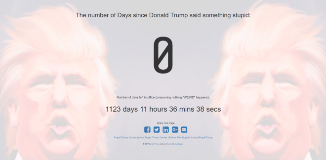 DaysSinceTrumpSaidSomethingStupid.com