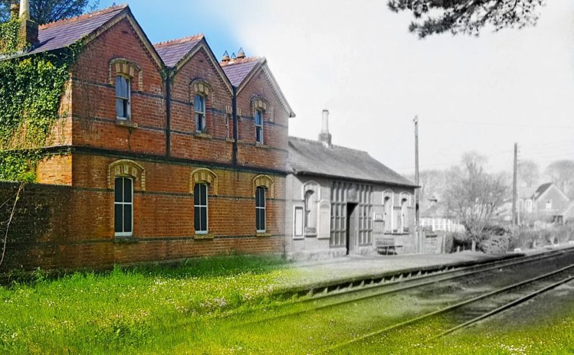 Mohill Railway Station Leitrim Then and Now