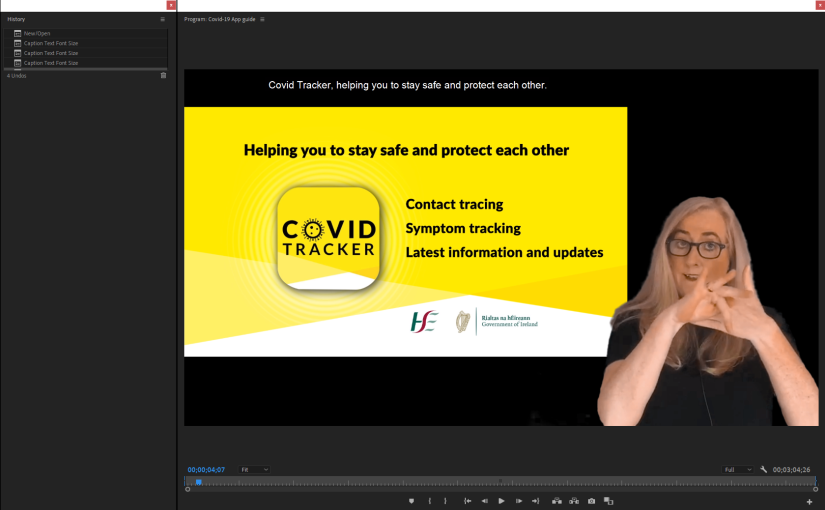 Video Editing for Irish Sign Language Interpreting